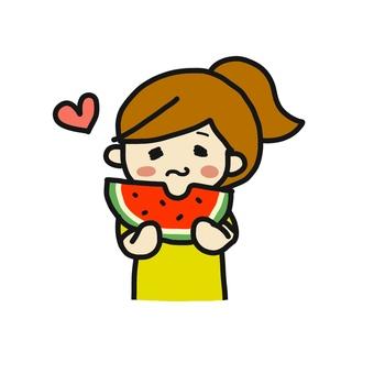Watermelon Eating Woman 2
