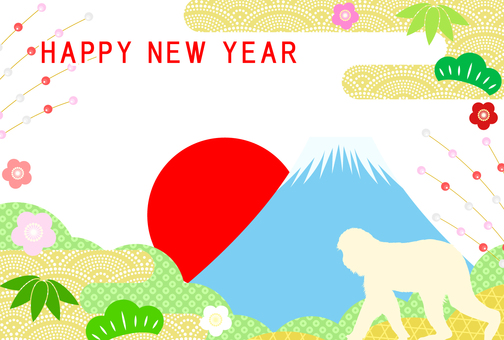 New Year card template 58