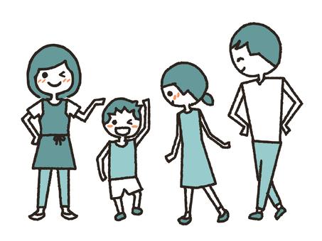 Hand drawn family
