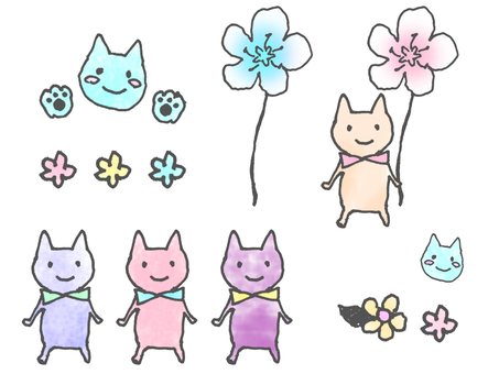 Cat and Flower 03