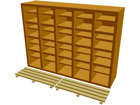 Shoe chest (with grasshopper)