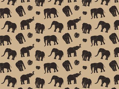 大象剪影圖案