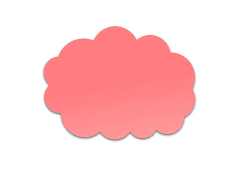 Cloud shaped balloon (pink)