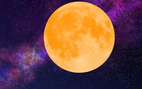달과 은하수 (어두운)
