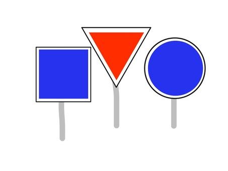 Traffic signs like frame set Ⅱ
