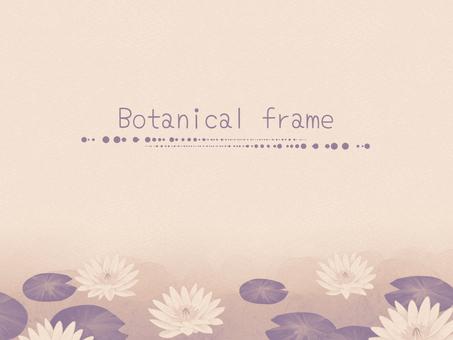 Water lilies frame 01 / sepia b