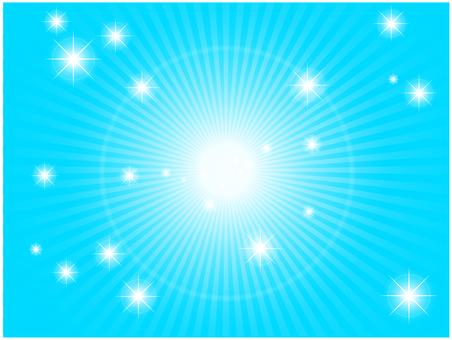 Radial light (blue)