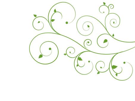 Decoration / flower · vinegar - green / Swirls 03