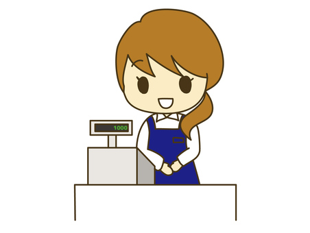 Cash register woman