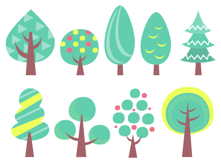 Scandinavian design style, cute tree illustration