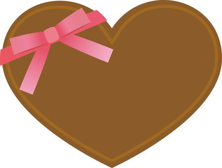 Heart shaped chocolate (with ribbon)