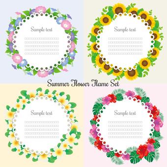 Summer flower frame set