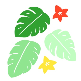 Monstera cute hand-painted