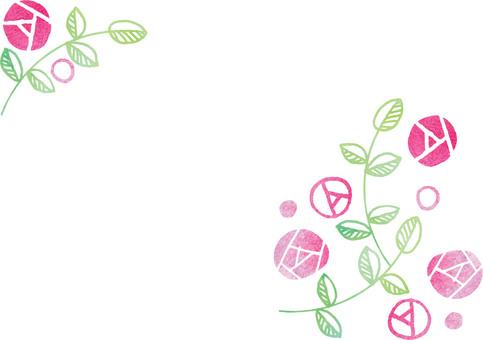 A soft rose illustration