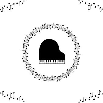 Music-piano and sheet music