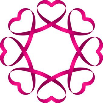 Heart _ Ribbon _ Link _ Pink