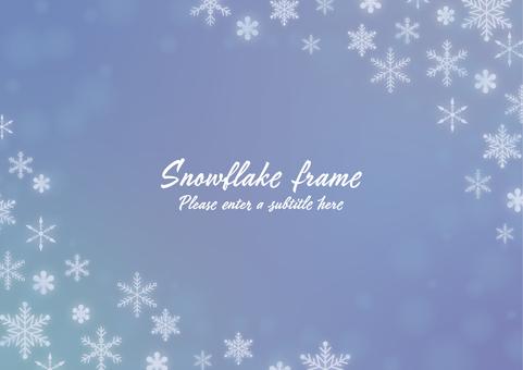 Snowflakes Fantastic frame
