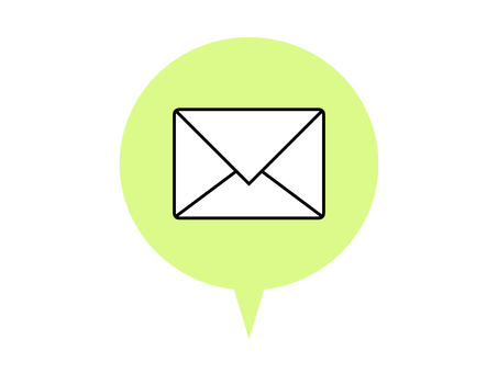 Mail icon speech bubble green