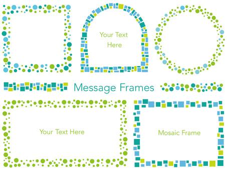 Mosaic and dot frame set 1