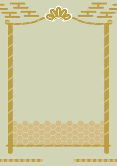 流行日式日式松樹竹松