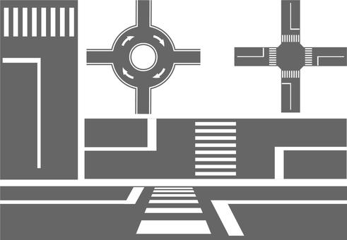 交差点と横断歩道