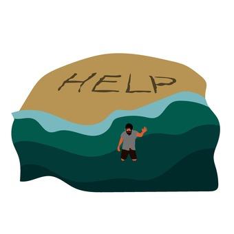 Uninhabited island illustration help
