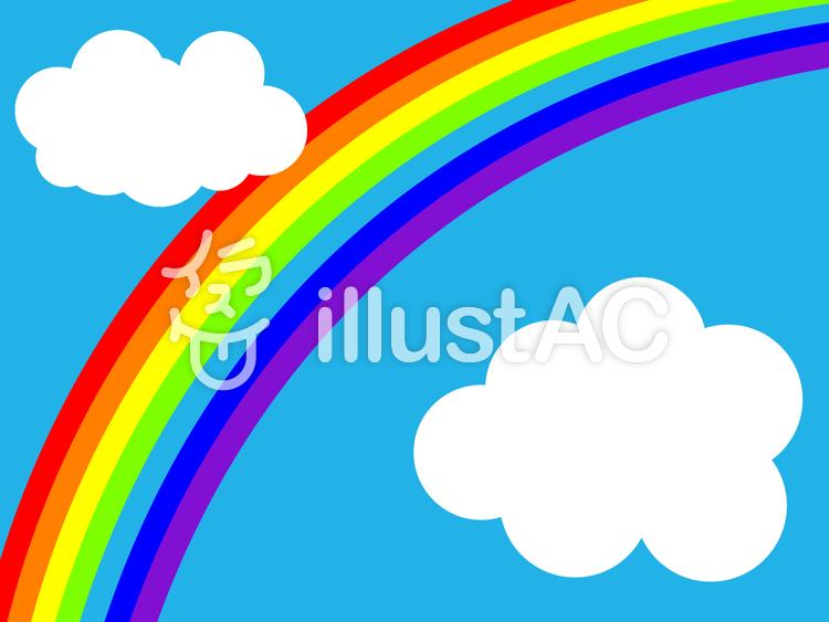 【フリーイラスト素材】 大きな虹・2