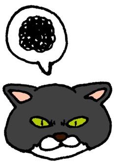 脾氣壞的黑貓