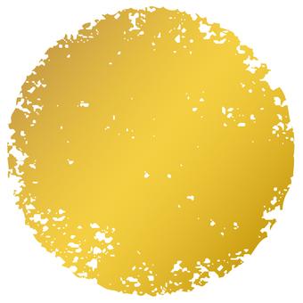 Stamp circle_ golden_cs