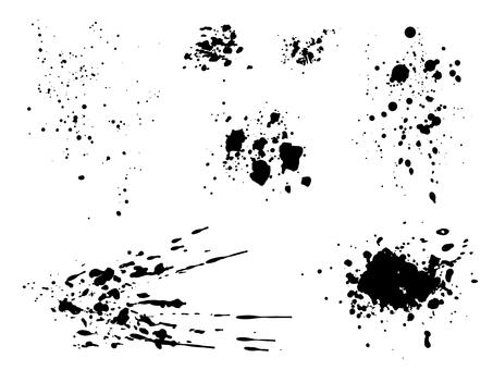 Ink splashing material