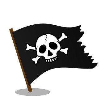 Flag of skull mark