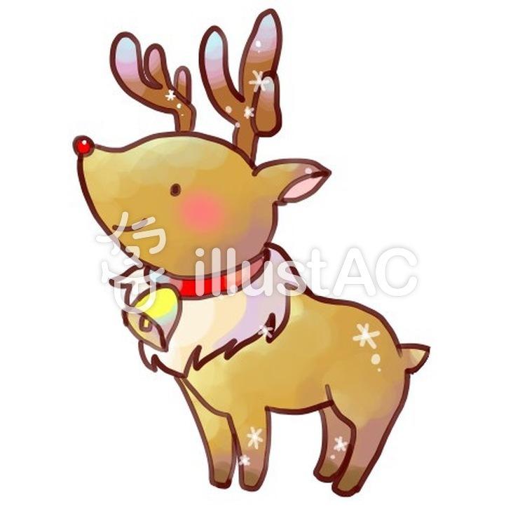 クリスマス トナカイのイラストイラスト No 無料イラストなら イラストac