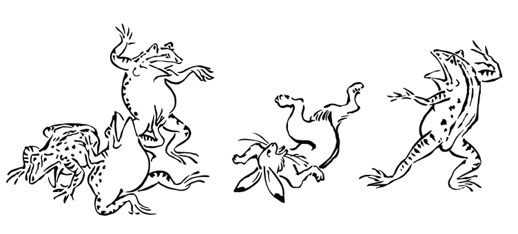 Wild animal caricature illustration 01