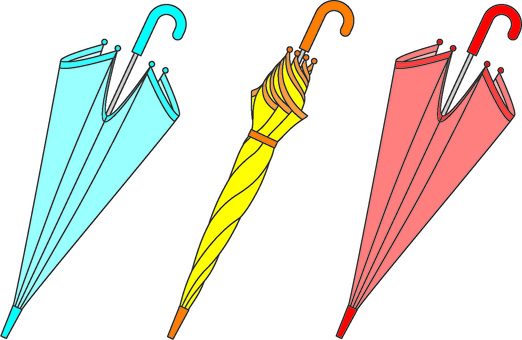 Three umbrellas (color 1)