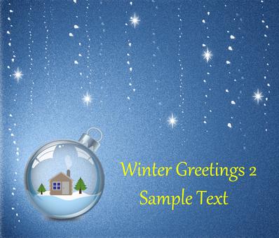 Winter Greeting Season's Card 2 Mountain Hut