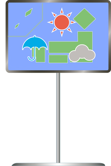 Weather forecast display