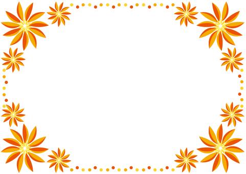 Frame - Tropical Flower Orange