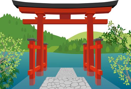 Nine-headed dragon shrine