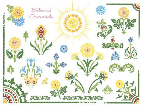Botanical stamp set 08
