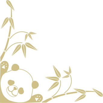 Panda decorative frame (gold frame decorative frame 13)