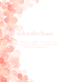 Floral Watercolor Frame 03 / Pink