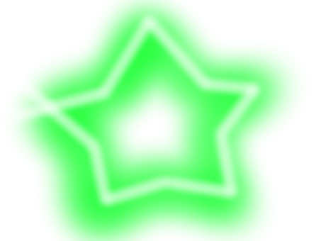 Star 【frame】 green