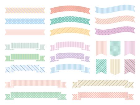 Various patterns of ribbon