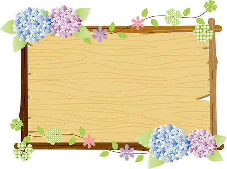 Hydrangea - grain frame