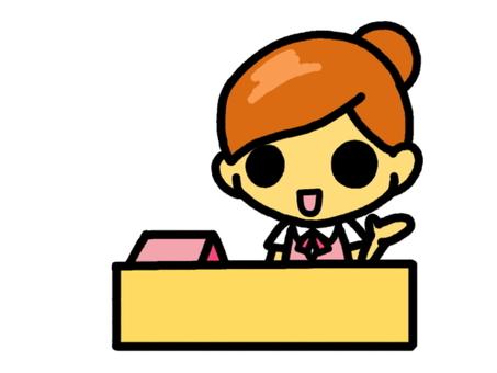 Receptionist peach