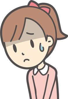 女の子ピンク長袖-058-バスト