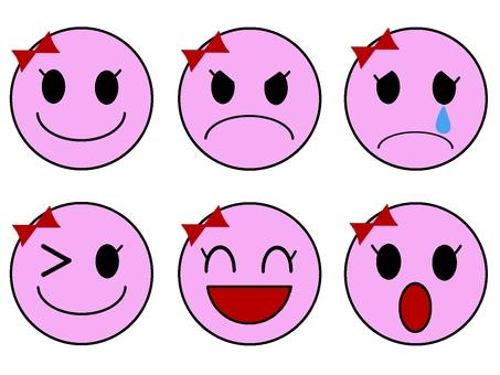 Facial expression (girls)