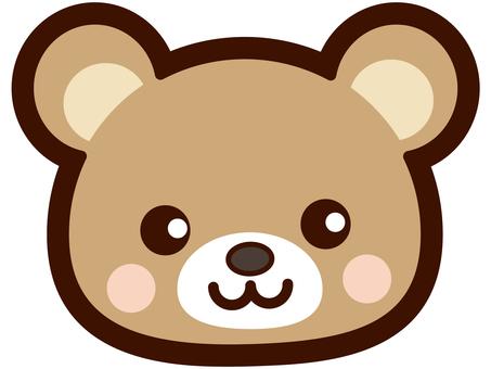 可爱的熊的脸