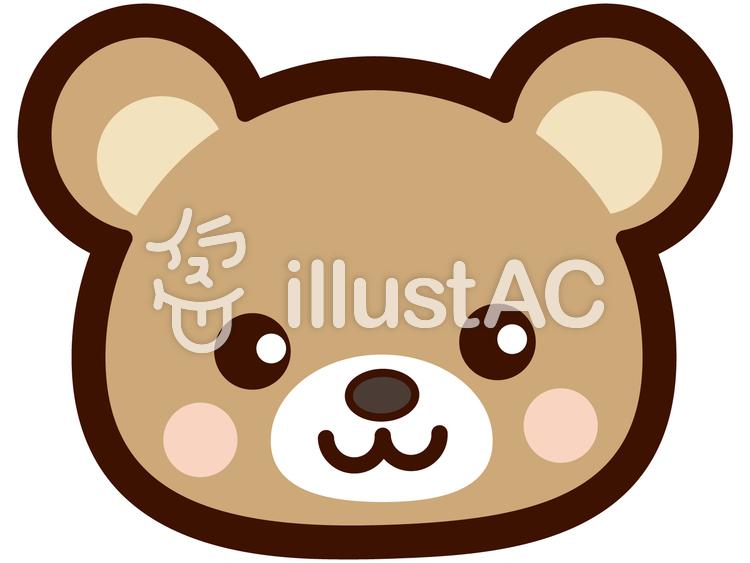 可愛いクマの顔イラスト No 248679無料イラストならイラストac