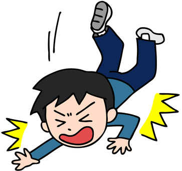 Illustration of a falling boy